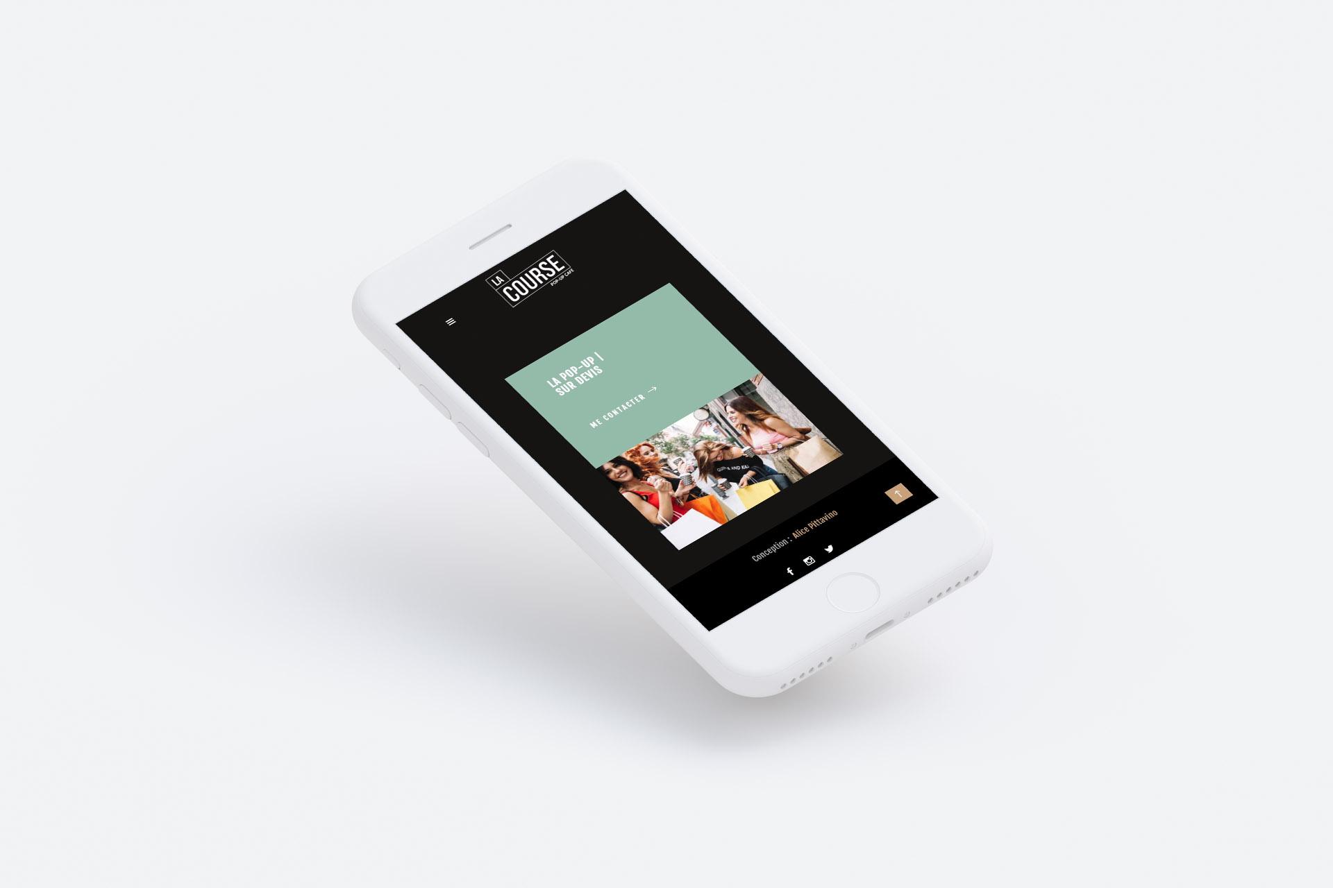 le course lyon vue iphone responsive site vitrine