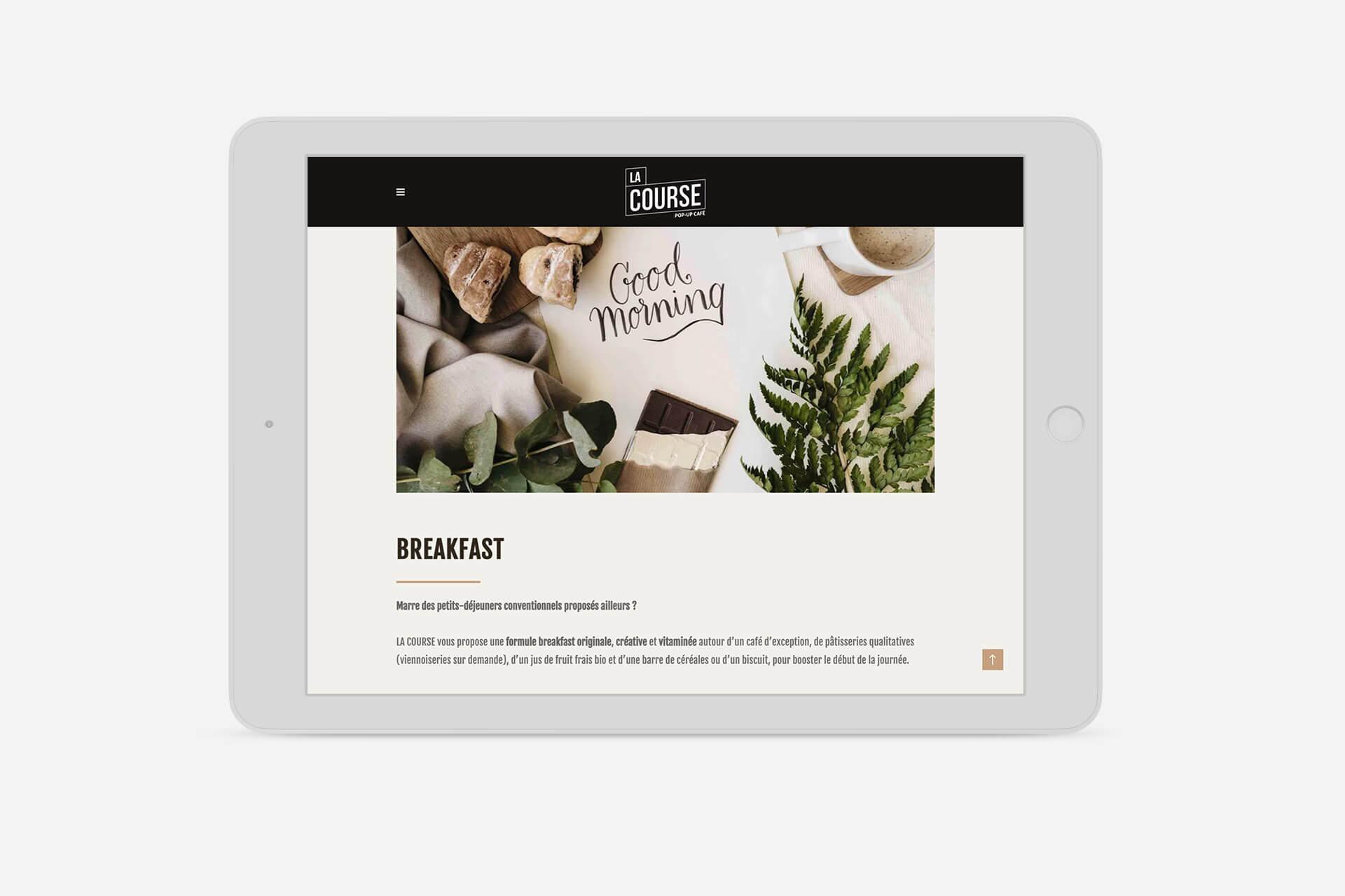 vue site la course lyon tablette responsive