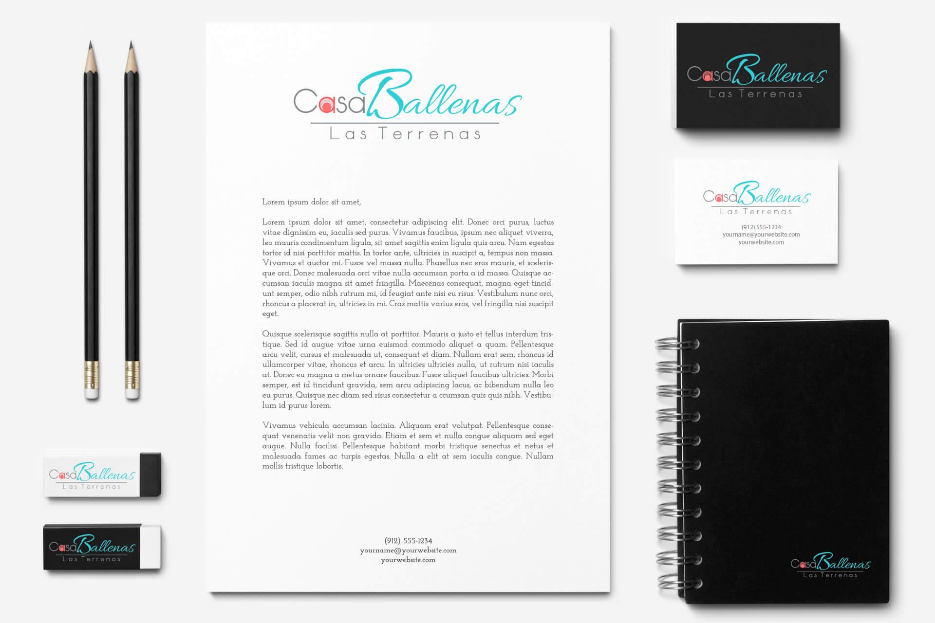 branding logo casa ballenas