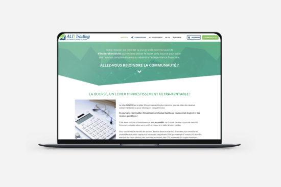 création d'une page wordpress pour alti trading