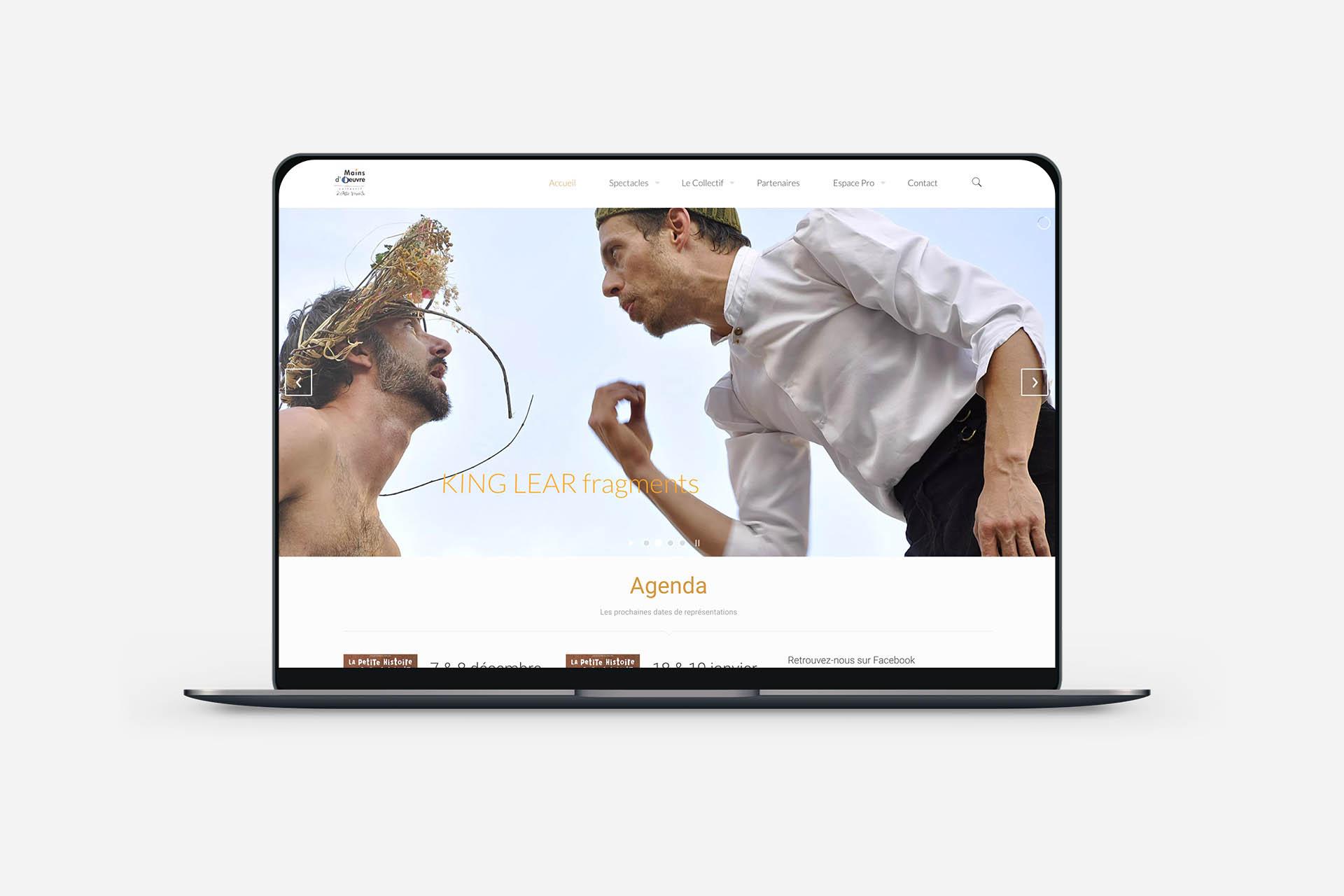 création site vitrine pour le collectif mains d'oeuvre